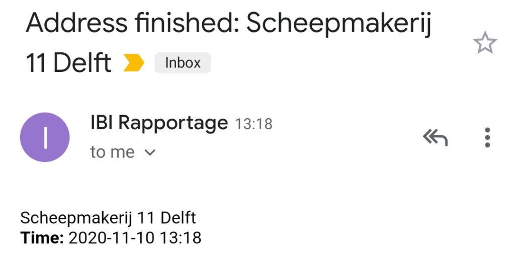 Address Finished E-mail