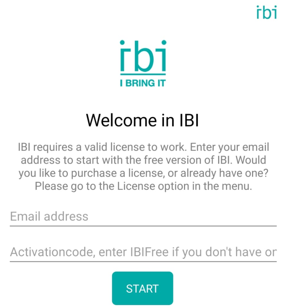 IBI Register with License