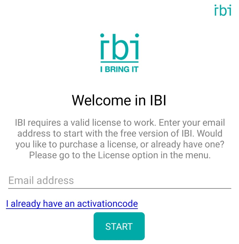IBI Registreren