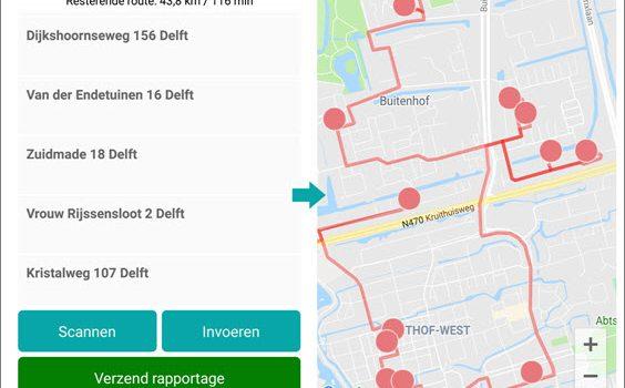 IBI update 1.9.9: overzicht route