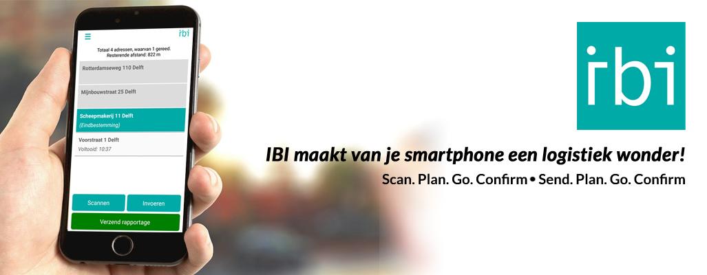 IBI maakt van je smartphone een logistiek wonder.