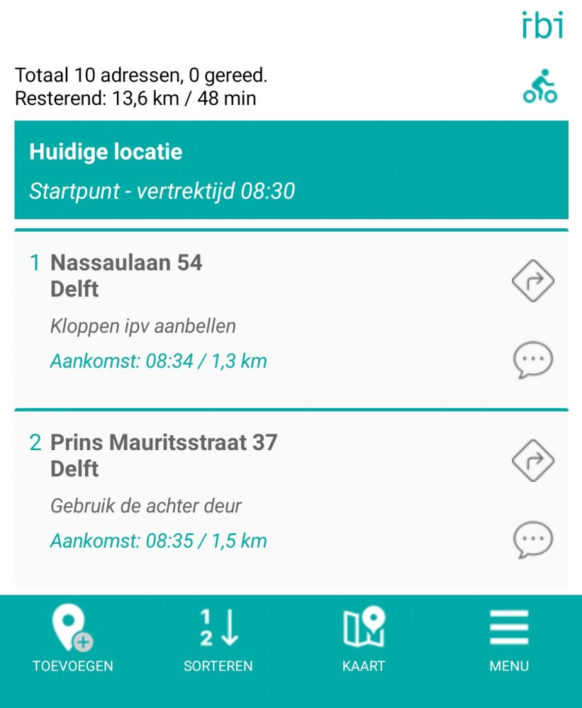 address list - arrival time - nl