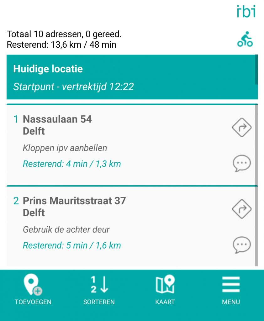address list - new menu - nl