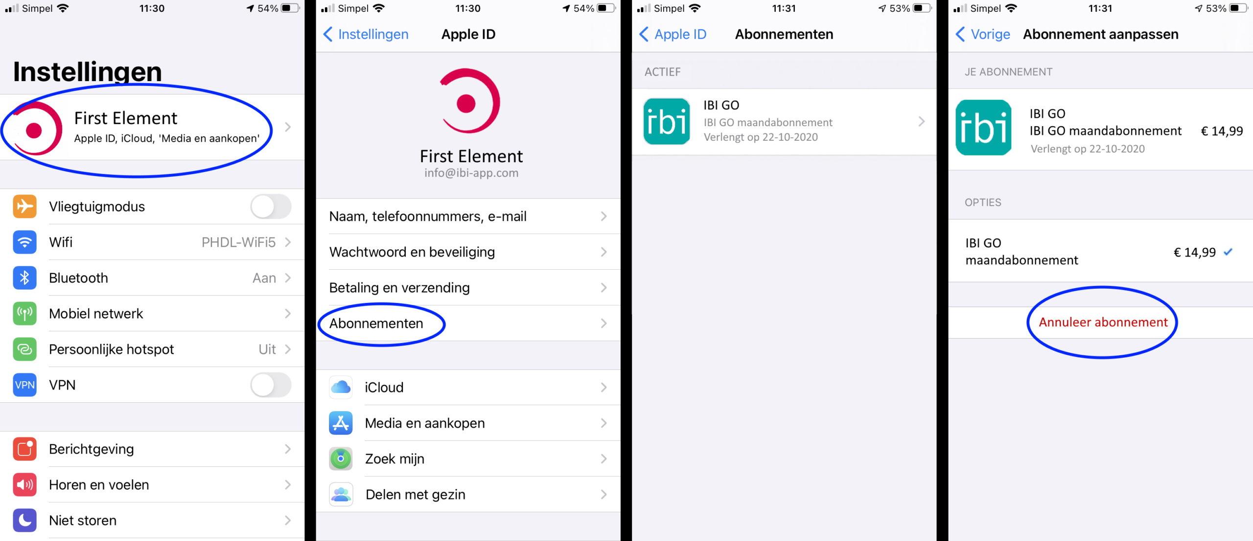 app store stopzetten