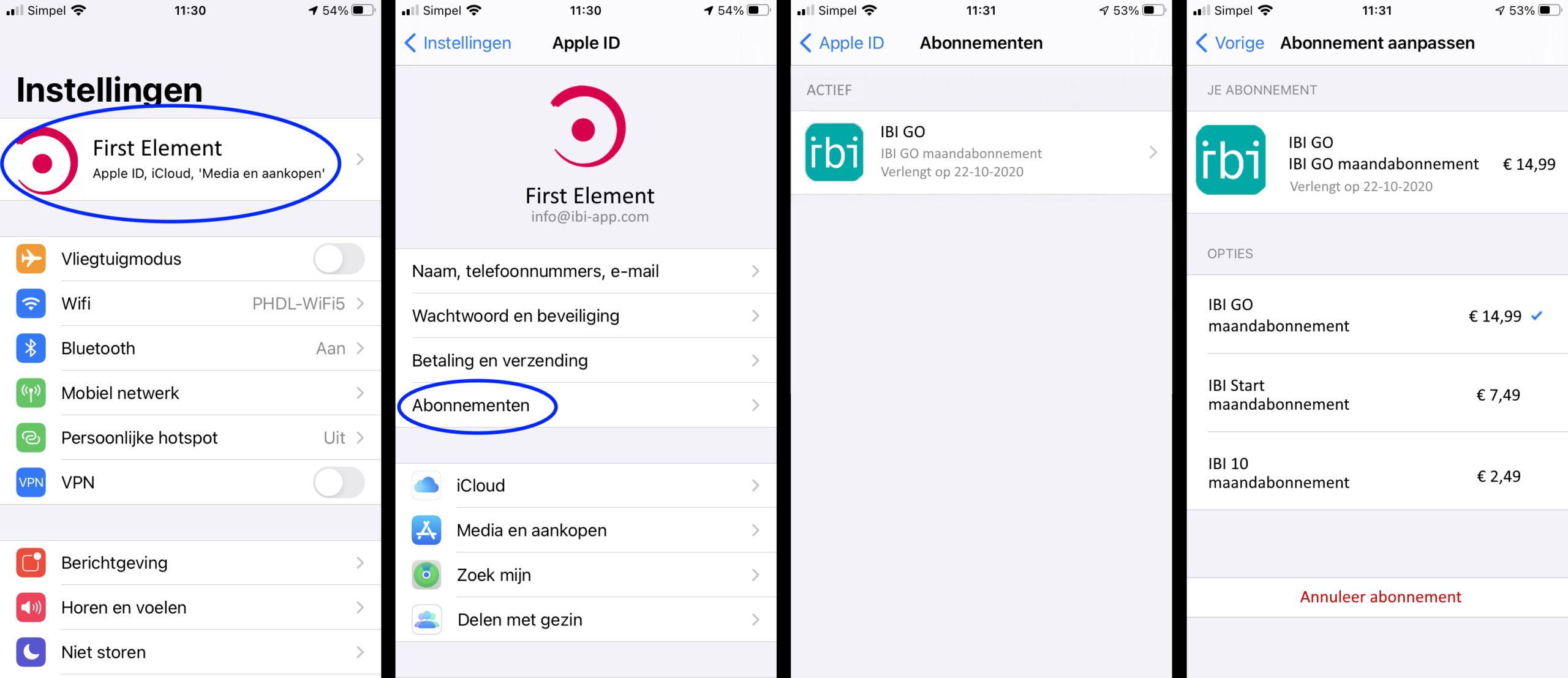 app store wijzigen