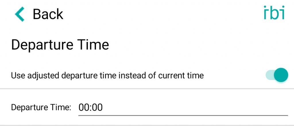 change departure time - en