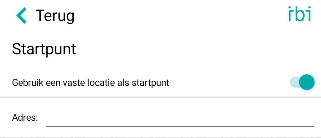 change start location - nl