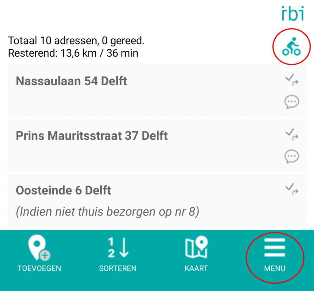 overzicht adressen - route opties small - new menu